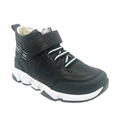 Ботинки демисезонные, цвет коричневый, шнурки/липучка