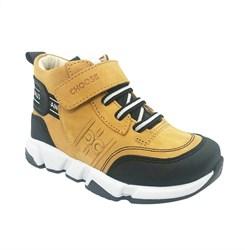 Ботинки демисезонные, цвет песочный, шнурки/липучка