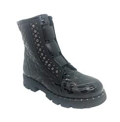 Ботинки демисезонные, наплак, цвет черный, регулирующие резинки