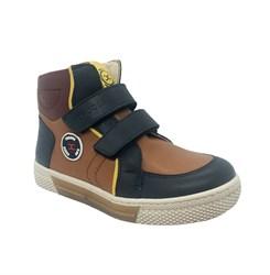 Ботинки для подростка, цвет коричневый, на липучках