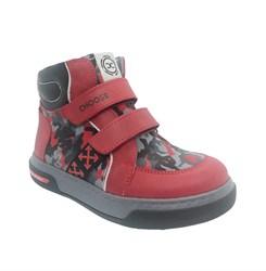 Ботинки для мальчика, цвет красный (камуфляж), на липучках