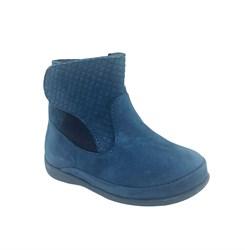 Ботиночки ясельные, цвет синий, молния/липучка