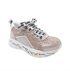 Кроссовки для девочки, пудрового цвета, молния/шнурки