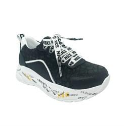 Кроссовки для девочки, цвет черный, шнурки/молния