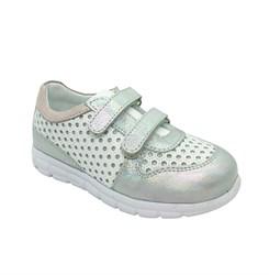 Кроссовки для девочки, цвет белый, на липучках