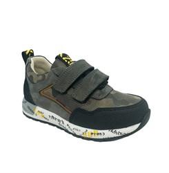 Кроссовки для мальчика, цвет серый (камуфляж), на липучках