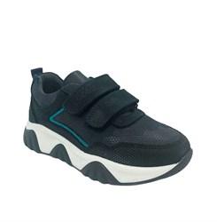 Кроссовки для мальчика, цвет темно-синий (камуфляж), на липучках