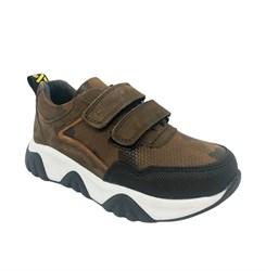 Кроссовки для мальчика, цвет коричневый (камуфляж), на липучках