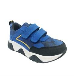 Кроссовки для мальчика, цвет голубой (камуфляж), на липучках