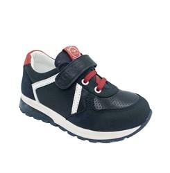 Кроссовки со светящейся подошвой для мальчика, цвет темно-синий, декор.элементы