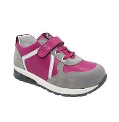 Кроссовки со светящейся подошвой для девочки, цвет серый/малиновый, декор.элементы