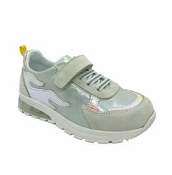 Кроссовки со светящейся подошвой, цвет: серебристо-серый, Арт-2143