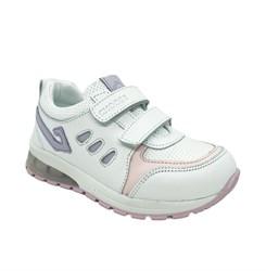 Кроссовки для девочки, цвет белый, со светящейся подошвой