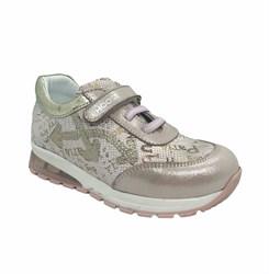 Кроссовки для девочки, цвет пудровый, со светящейся подошвой