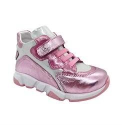 Ботинки для девочки, цвет розовый/лиловый, на липучке