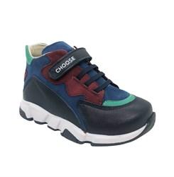 Ботинки для мальчика, цвет темно-синий, на липучке