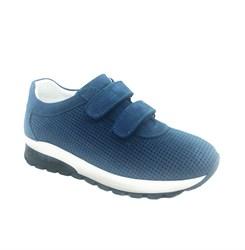 Кроссовки для мальчика, цвет синий, на липучках, перфорация