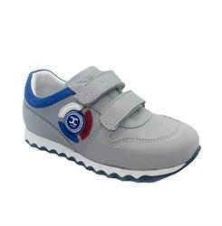 Кроссовки для мальчика, цвт серый, на липучках
