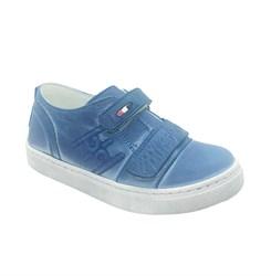 Кроссовки для мальчика, цвет голубой (под джинсу), на липучках