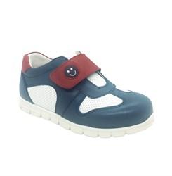Кроссовки для мальчика, цвет синий/белый, на липучке