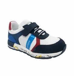 Кроссовки для мальчика, цвет белый/синий, шнурки/липучки
