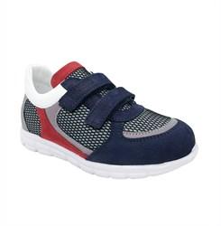 Кроссовки для мальчика, цвет темно-синий/красный, на липучках