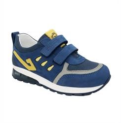 Кроссовки со светящейся подошвой для мальчика, цвет синий, с декор.оформлением