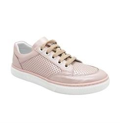 Кеды для девочки, цвет розовый, шнурки/замок