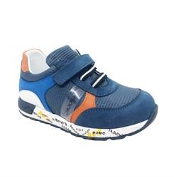 Кроссовки для мальчика, цвет синий/голубой, шнурки/липучка