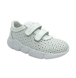 Кроссовки для девочки, цвет белый, на липучках, перфорация