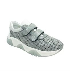 Кроссовки для девочки,цвет серый, на липучках, перфорация
