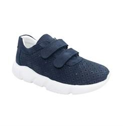 Кроссовки для мальчика, цвет темно-синий, на липучках, перфорация