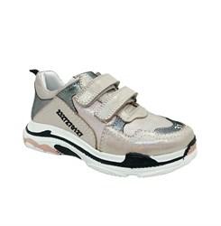 Кроссовки для девочки, цвет пудровый,  на липучках
