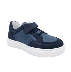 Кеды для мальчика, цвет синий, шнурки/липучка
