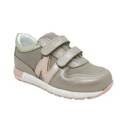 Кроссовки для девочки, цвет пудровый/розовый,на липучках