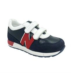 Кроссовки для мальчика, цвет темно-синий/красный/белый, на липучках