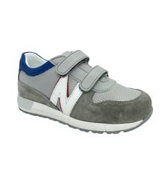 Кроссовки для мальчика, цвет серый/белый, на липучках