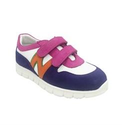 Кроссовки девочки, цвет белый/малиновый/фиолетовый, на липучках