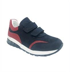 Кроссовки для мальчика, цвет темно-синий, с красными элементами дизайна, со светящейся подошвой