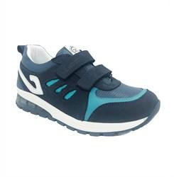 Кроссовки для мальчика, цвет темно-синий/голубой, со светящейся подошвой