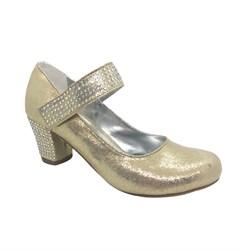 Туфли для девочки, цвет золото, со стразами