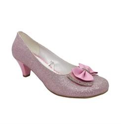 Туфли для девочки, цвет :розовый, закрытый нос