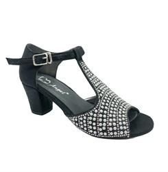Туфли балетные, цвет черный , с перемычкой