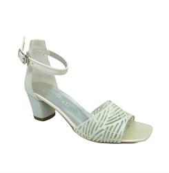 Туфли для девочки, цвет белый, с открытым носом