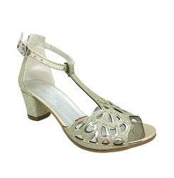 Туфли балетные, цвет золотистый, с перемычкой