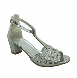 Туфли балетные, цвет серебристый, с перемычкой